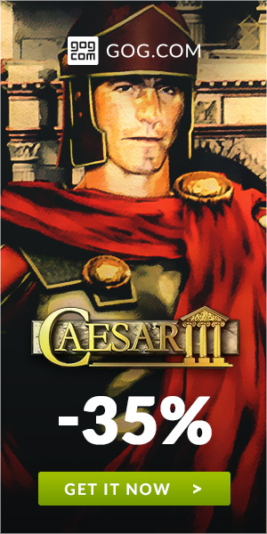 Sale on Caesar 3 now on GOG