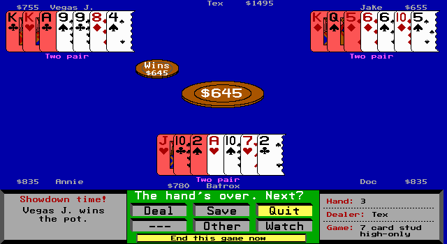7 card stud poker software