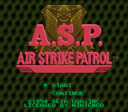 A.S.P.: Air Strike Patrol 0