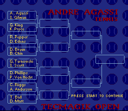 Andre Agassi Tennis 16