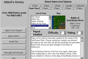 Aztech's Armory: Campaigns for WarCraft II abandonware