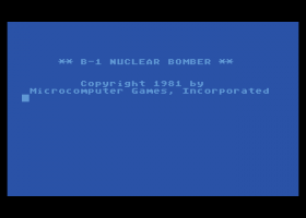 B-1 Nuclear Bomber abandonware