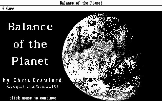 Balance of the Planet 0