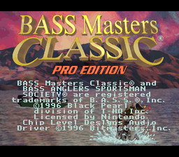 Bass Masters Classic: Pro Edition 0