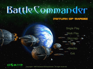 Battle Commander: Return of Waroid 0