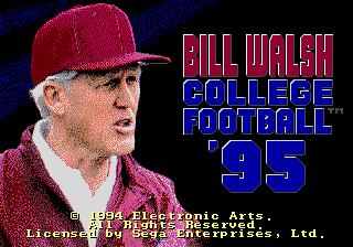 Bill Walsh College Football 95 0