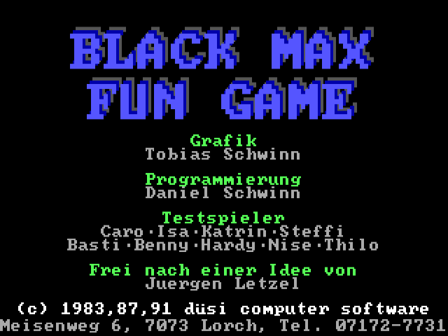 BLACK MAX Fun Game 2