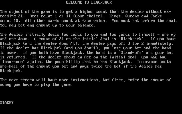 Download Blackjack My Abandonware