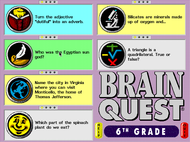 Brain Quest 6th Grade Edition 2