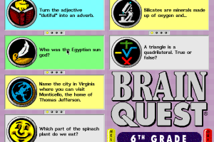 Brain Quest 6th Grade Edition abandonware