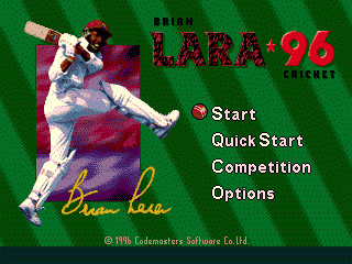 Brian Lara Cricket '96 0