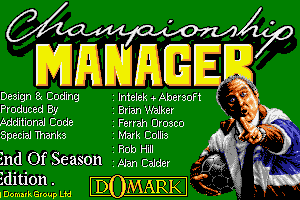Championship Manager: End of 1994 Season Data Up-date Disk 0
