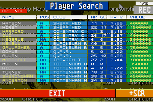 Championship Manager: End of 1994 Season Data Up-date Disk 3