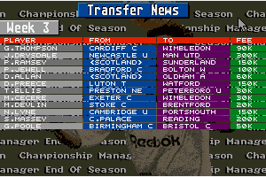 Championship Manager: End of 1994 Season Data Up-date Disk abandonware