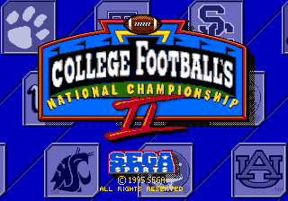 College Football's National Championship II 0