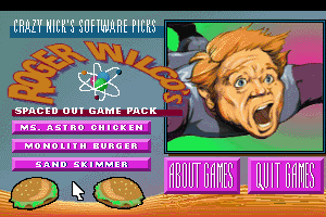 Crazy Nick's Software Picks: Roger Wilco's Spaced Out Game Pack 0
