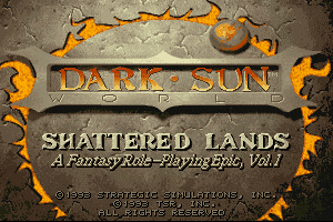 Dark Sun: Shattered Lands 0