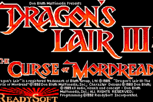 Dragon's Lair III: The Curse of Mordread 1