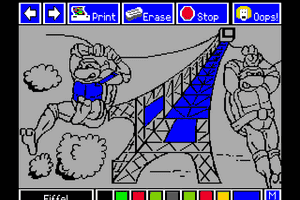 Electric Crayon Deluxe: Teenage Mutant Ninja Turtles: World Tour abandonware
