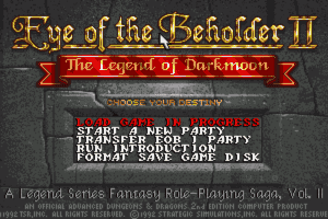 Eye of the Beholder II: The Legend of Darkmoon 2