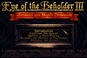 Eye of the Beholder III: Assault on Myth Drannor 5