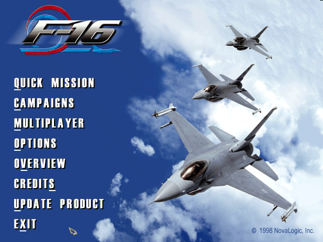F-16 multirole fighter (windows) my abandonware.