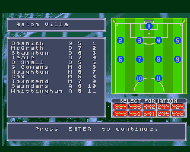 Fantasy Manager: The Computer Game Amiga