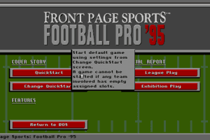 Front Page Sports: Football Pro '95 Season 1