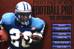 Front Page Sports: Football Pro '96 Season 0