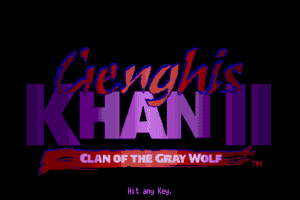 Genghis Khan II: Clan of the Gray Wolf 1