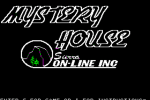 Hi-Res Adventure #1: Mystery House 0