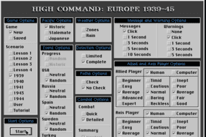 High Command: Europe 1939-'45 1