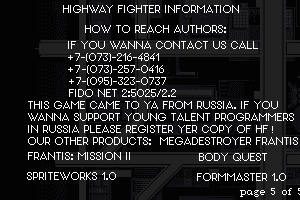 Highway Fighter abandonware