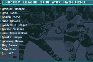 Hockey League Simulator II abandonware