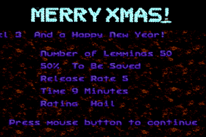 Holiday Lemmings 12