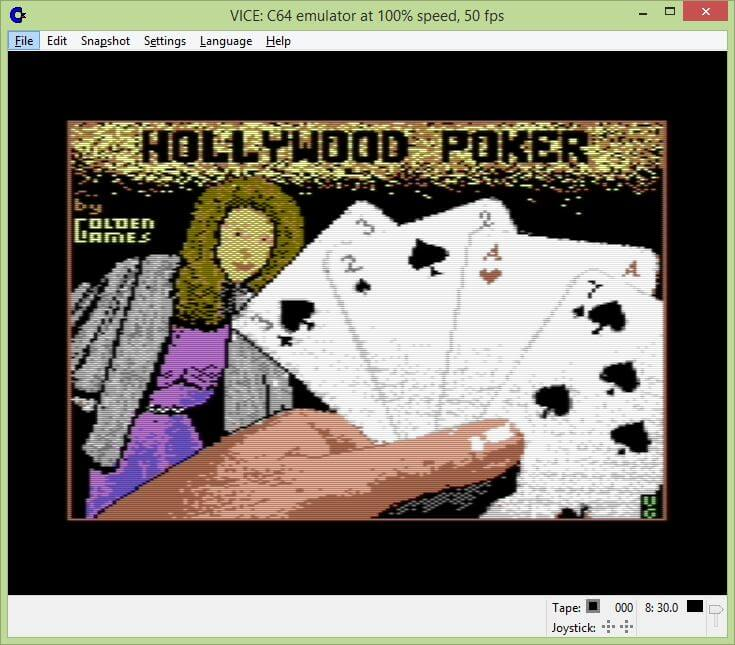 Hollywood Poker Commodore 64