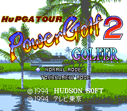 Hu PGA Tour: Power Golf 2 - Golfer 0