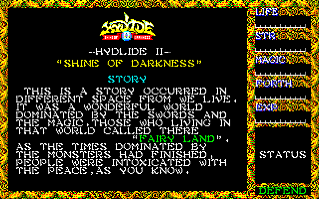Hydlide II: Shine of Darkness 0