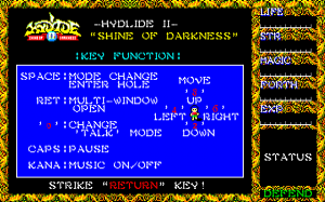 Hydlide II: Shine of Darkness 1