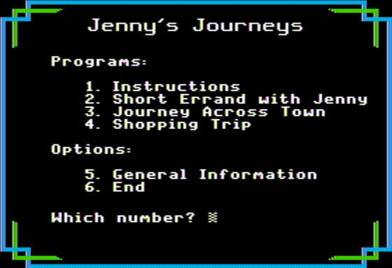 Jenny's Journeys 1