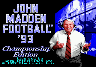 John Madden Football '93: Championship Edition 0