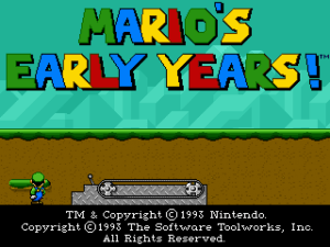 Mario's Early Years: CD-ROM Collection 1