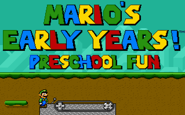 Mario's Early Years: Preschool Fun 0