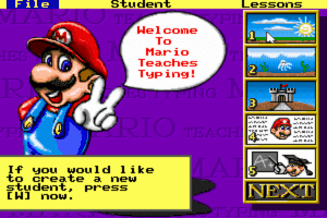 Mario Teaches Typing 1