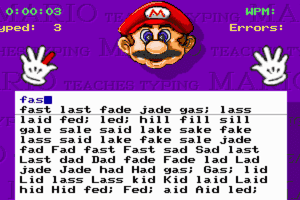 Mario Teaches Typing 8