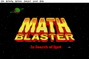 Math Blaster: Episode One - In Search of Spot 0