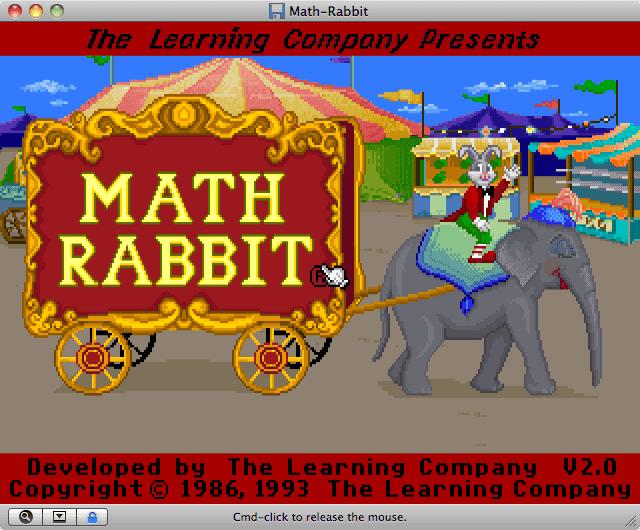 Download Math Rabbit - My Abandonware