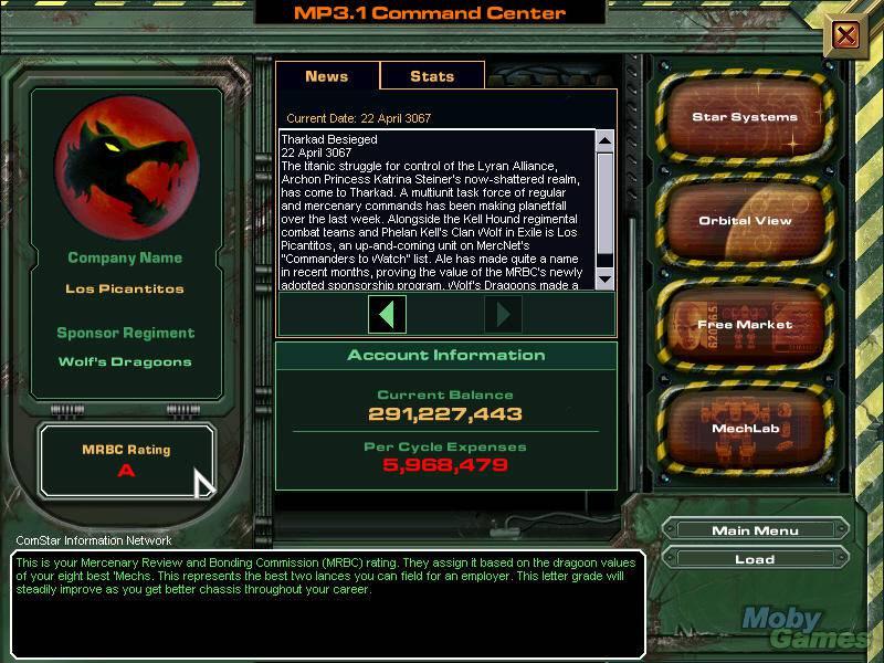 Download MechWarrior 4: Mercenaries (Windows) - My Abandonware