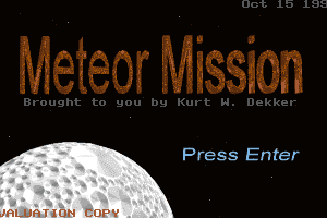 Meteor Mission 0