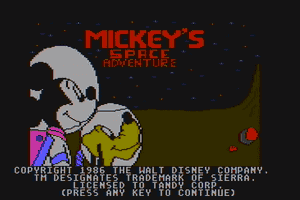 Mickey's Space Adventure 1
